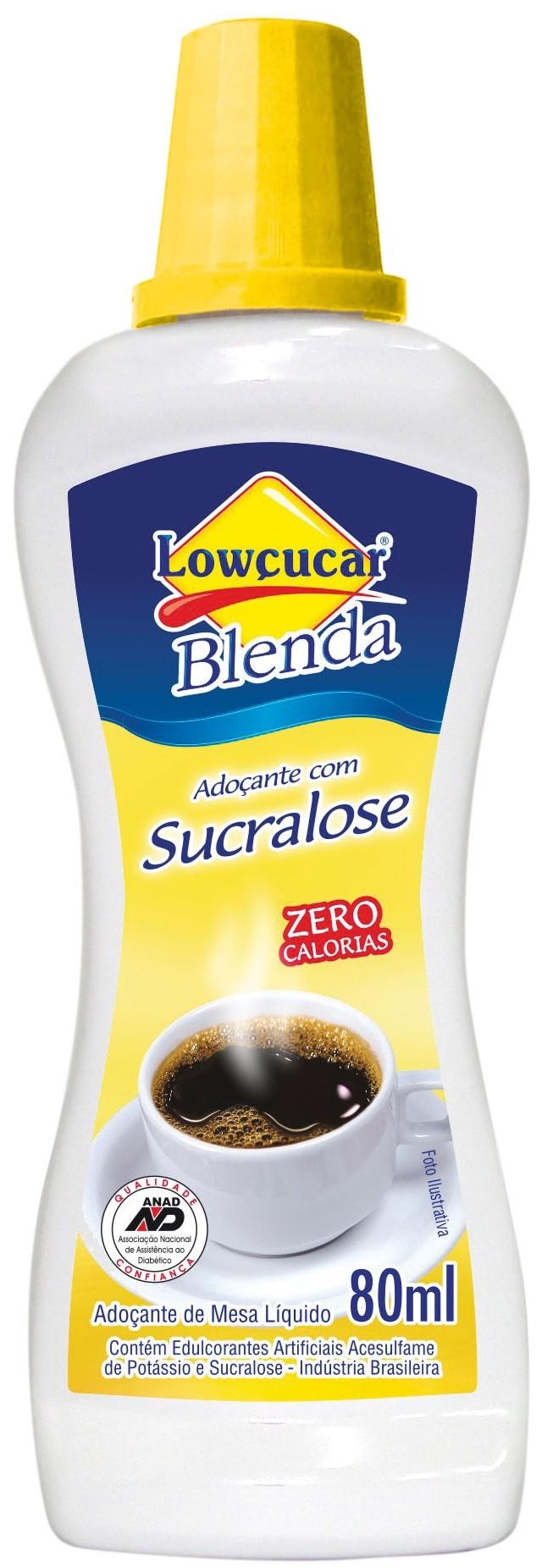 Adoçante Blenda Sucralose Líquido Zero Sódio Lowçucar 80mL