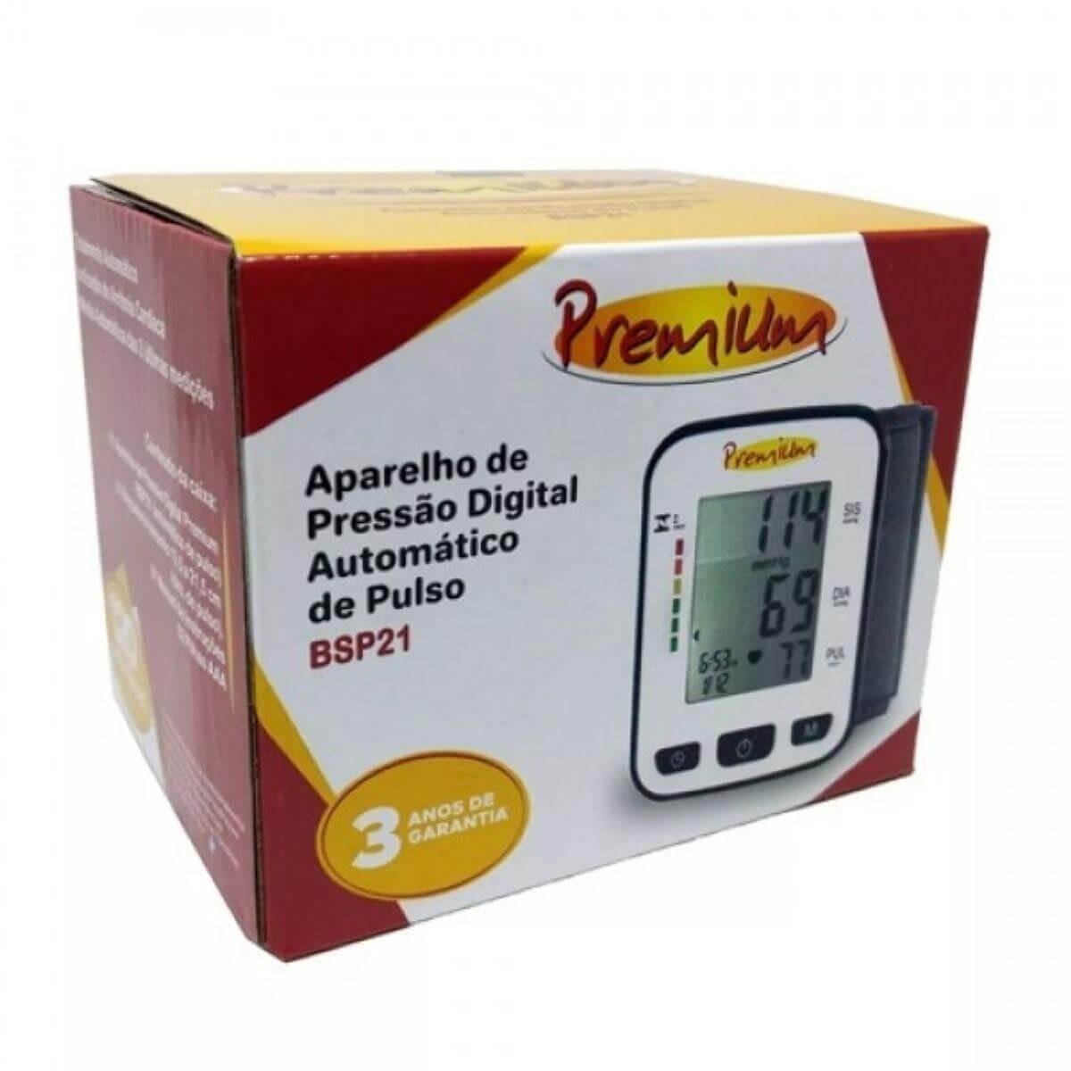 Monitor de Pressão Arterial de Pulso Automático BSP21 Premium