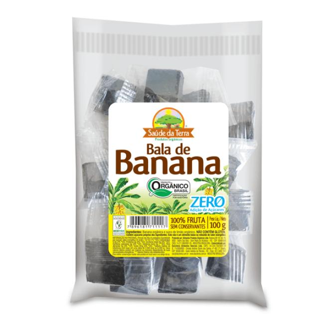 Bala de Banana Zero Adição de Açúcar Saúde da Terra 100g