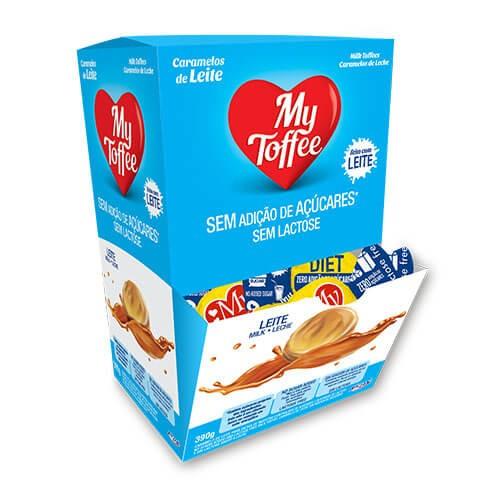 Bala de Caramelo Sem Adição de Açúcar Sem Lactose My Toffee Riclan 390g