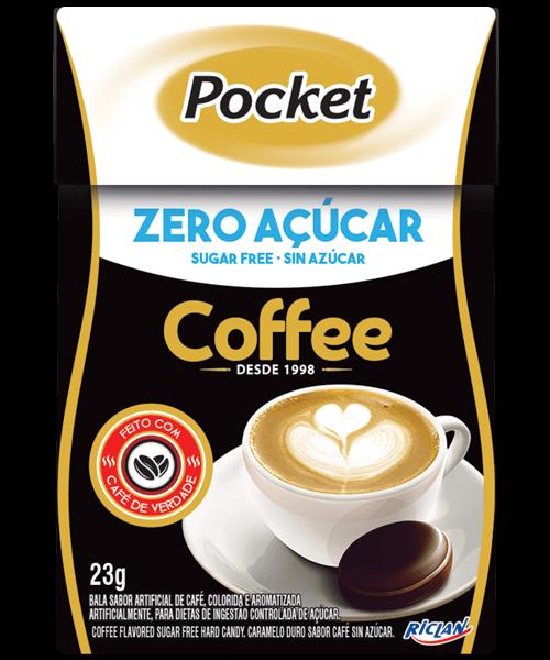 Bala Zero Açúcar Sabor Café Pocket Riclan 23g