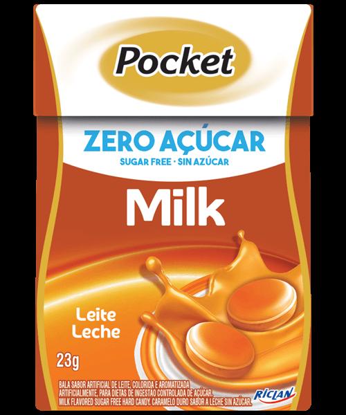 Bala Zero Açúcar Sabor Leite Riclan 23g
