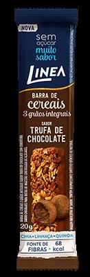 Barra de Cereal Trufa de Chocolate Grãos Integrais Linea 20g