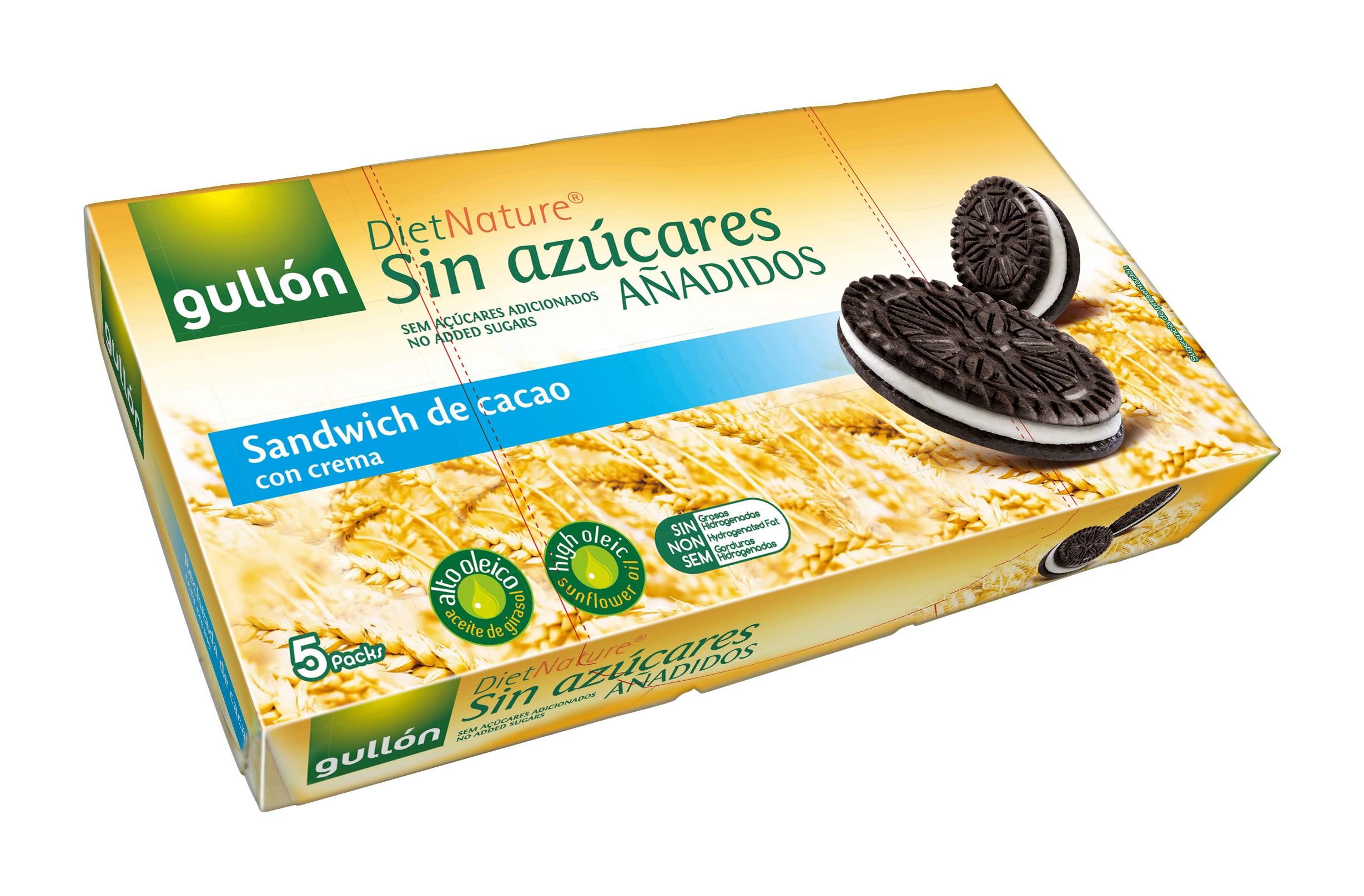 Biscoito de Cacau Diet Recheado com Creme Gullón 210g