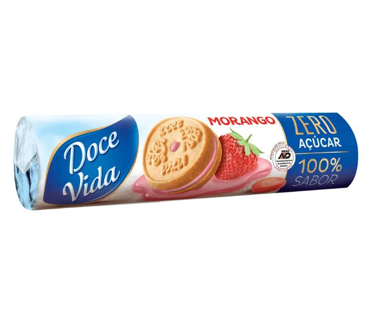 Biscoito Recheado Diet Morango Doce Vida 120g