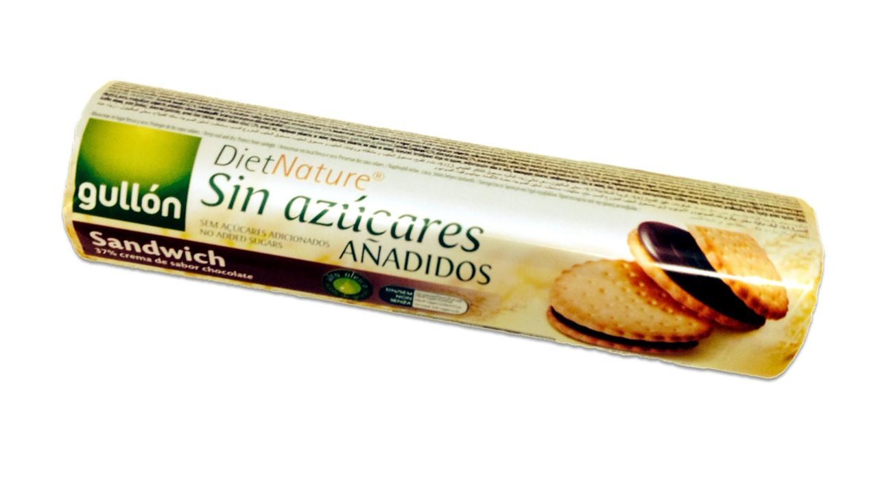 Biscoito Sanduíche Diet Recheado de Chocolate Gullón 250g