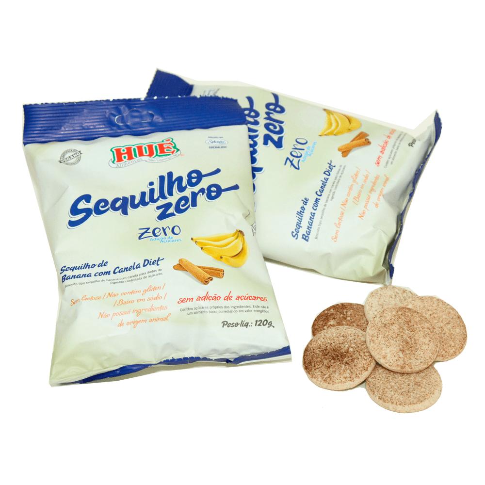 Biscoito Zero Adição de Açúcar Banana com Canela Hué 120g