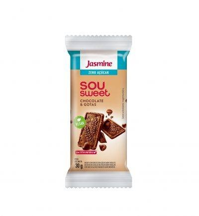 Biscoito Zero Açúcar Chocolate e Gotas Sou Sweet Jasmine 30g