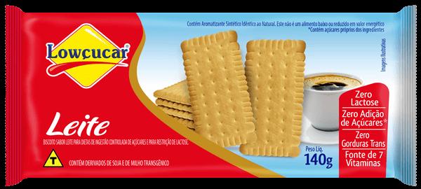 Biscoito Zero Adição de Açúcar Leite Lowçucar 140g