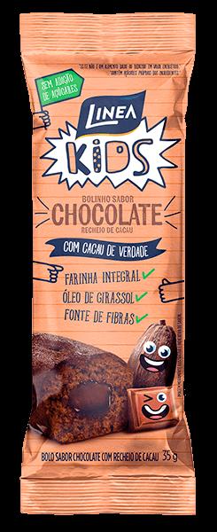Bolinho Integral Sem Adição de Açúcar Chocolate Linea Kids 35g