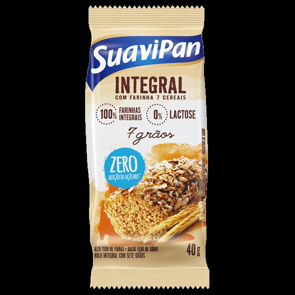 Bolinho Zero Adição de Açúcar Integral 7 Grãos Suavipan 40g