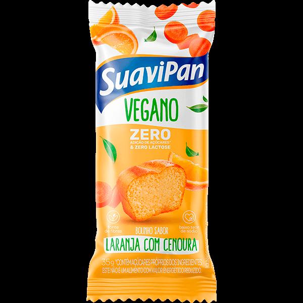 Bolinho Zero Adição de Açúcar Laranja com Cenoura Suavipan 35g