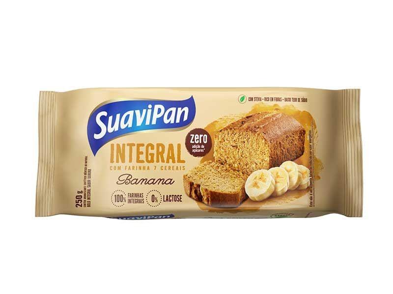 Bolo Integral  Zero Açúcar Sabor Banana Suavipan 250g