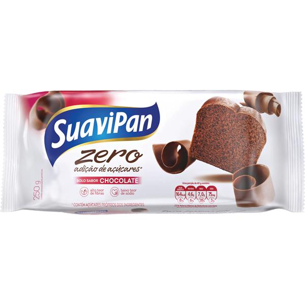 Bolo Zero Adição de Açúcar Chocolate Suavipan 250g