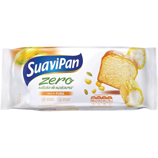 Bolo Zero Adição de Açúcar Fubá Suavipan 250g