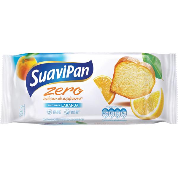 Bolo Zero Açúcar Light Suavipan 250g Laranja