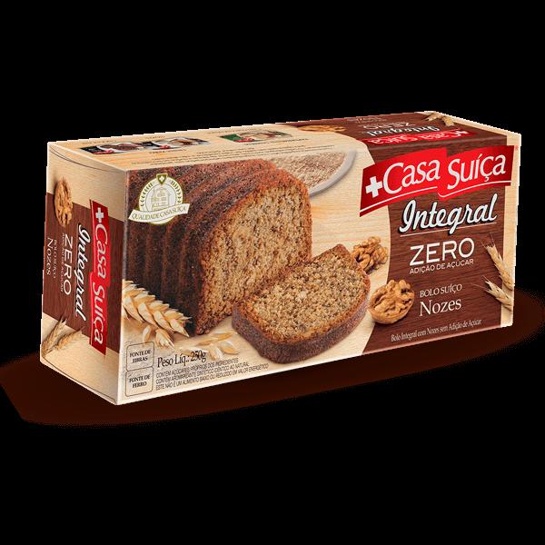Bolo Zero Adição de Açúcar Integral Nozes 250g