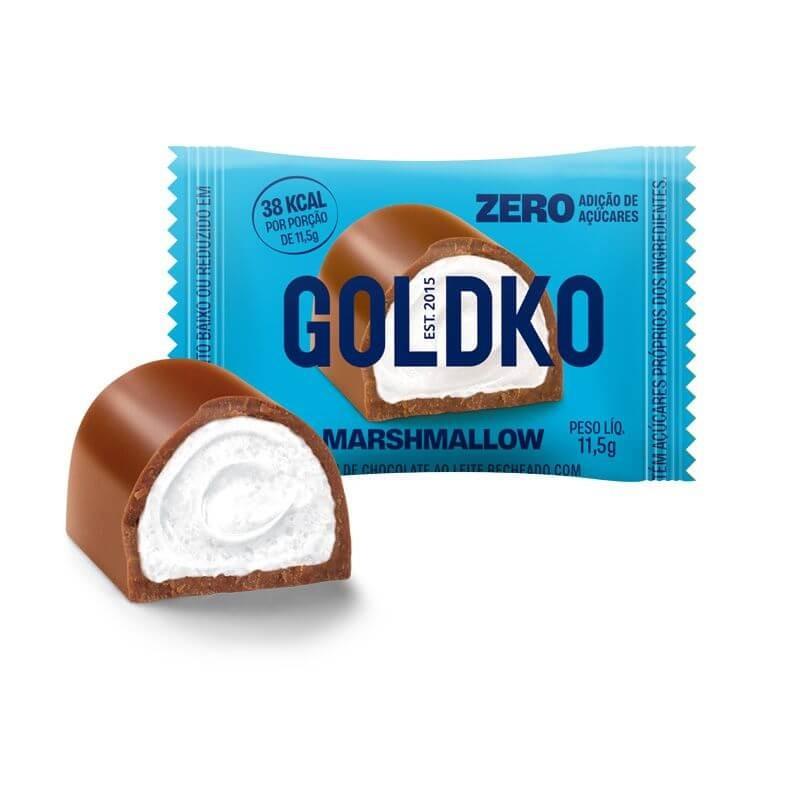 Bombom Recheado Zero Adição de Açúcar Marshmallow GoldKo 13,5g