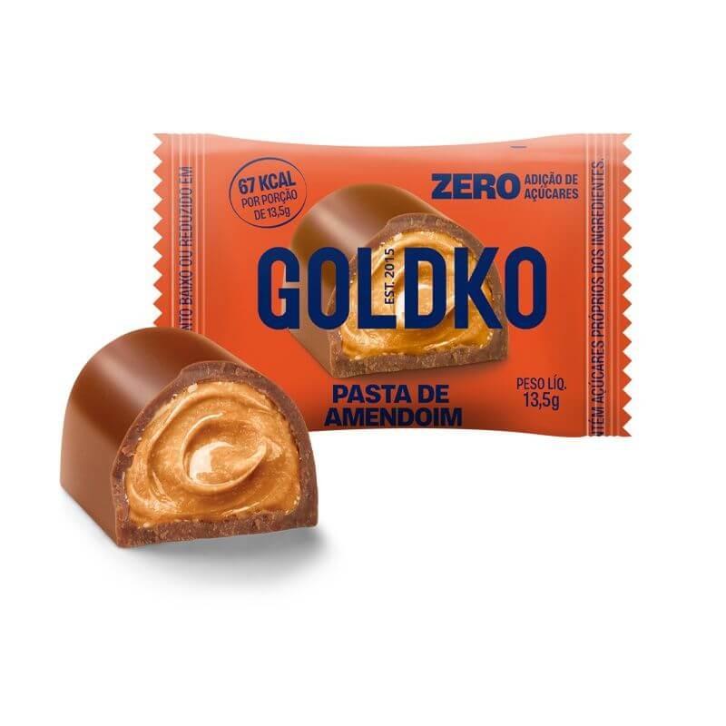 Bombom Recheado Zero Adição de Açúcar Pasta de Amendoim GoldKo 13,5g