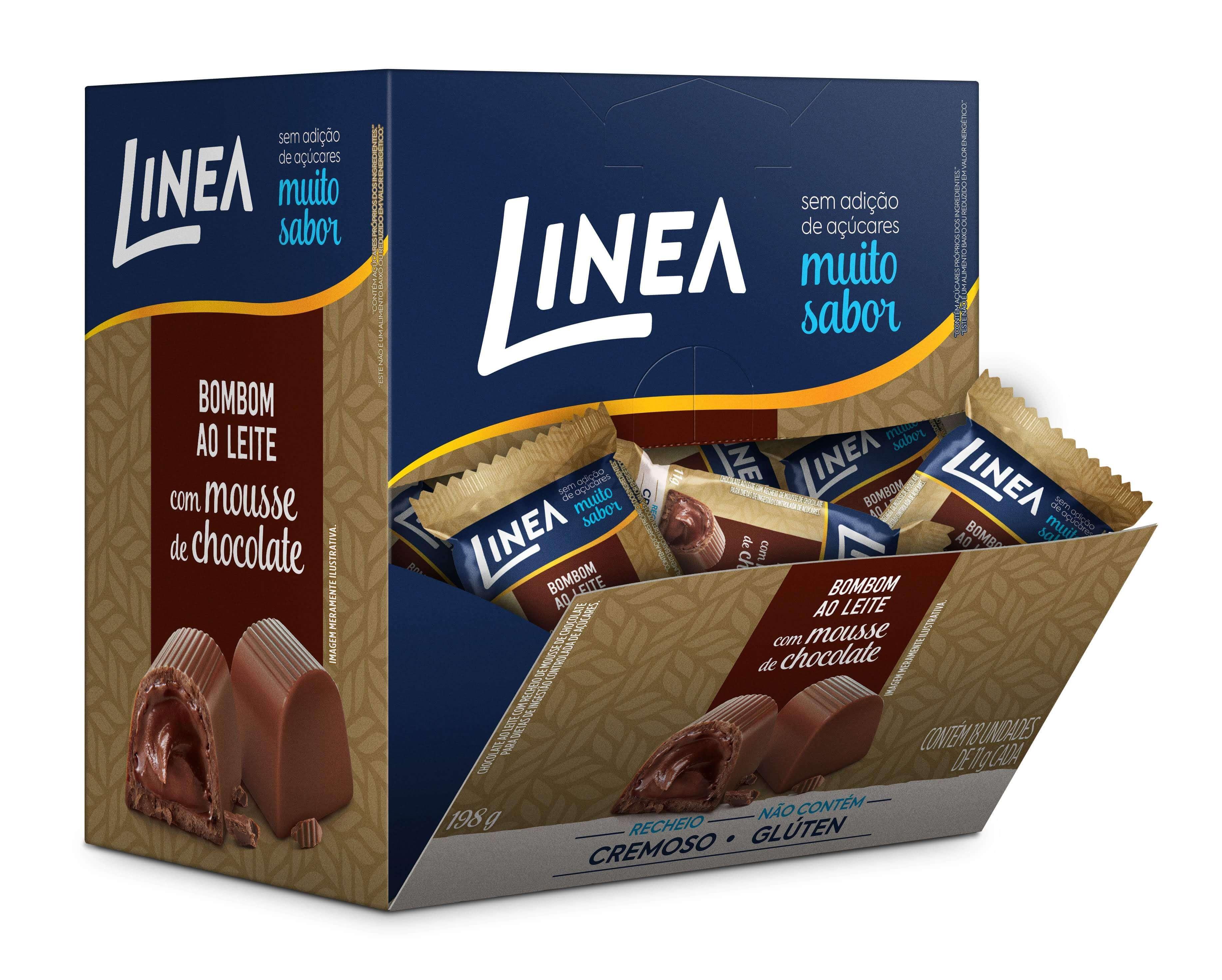 Bombom Recheado Sem Adição de Açúcar Mousse de Chocolate Linea 11g