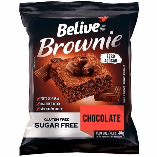 Brownie Sem Açúcar Chocolate Belive 40g