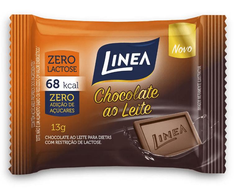 Chocolate ao Leite Zero Adição de Açúcar Zero Lactose Linea 13g