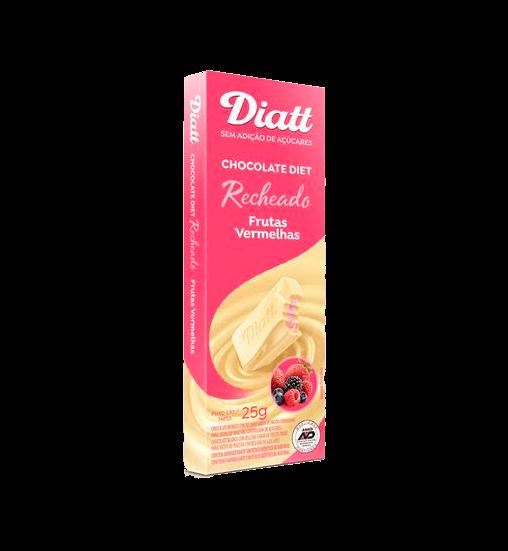 Chocolate Recheado Sem Adição de Açúcar Branco com Frutas Vermelhas Diatt 25g
