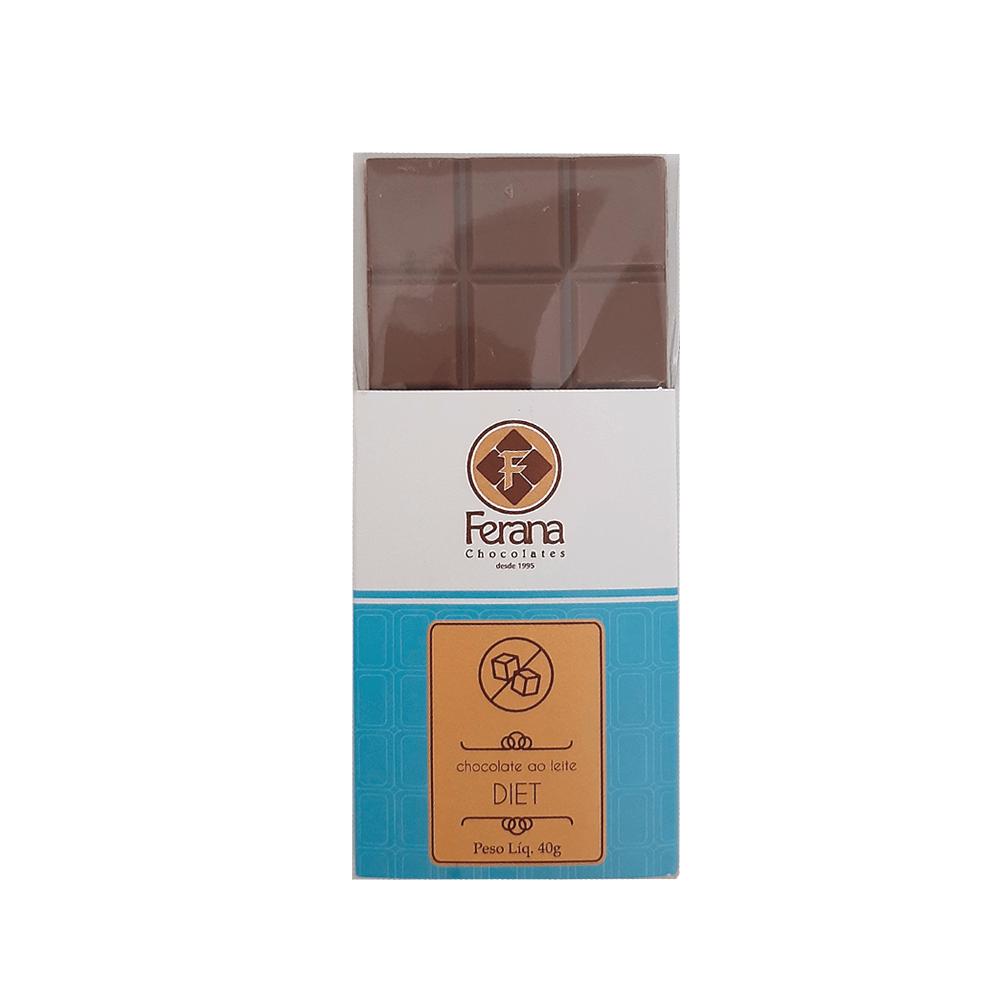 Chocolate ao Leite Diet Ferana 40g