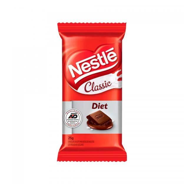 Chocolate ao Leite Diet Classic Nestlé 25g