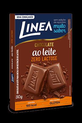Chocolate ao Leite Sem Adição de Açúcar Zero Lactose Linea 30g
