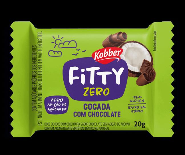 Cocada com Chocolate Zero Adição de Açúcar Fitty Kobber 20g
