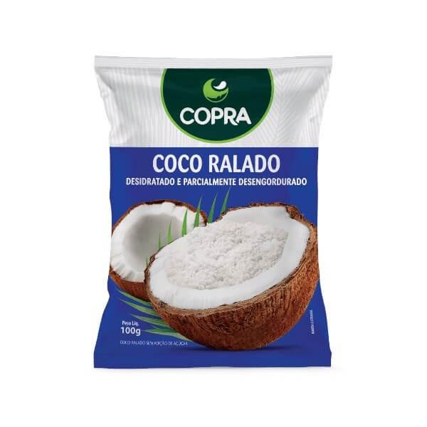 Coco Ralado Sem Adição de Açúcar Copra 100g
