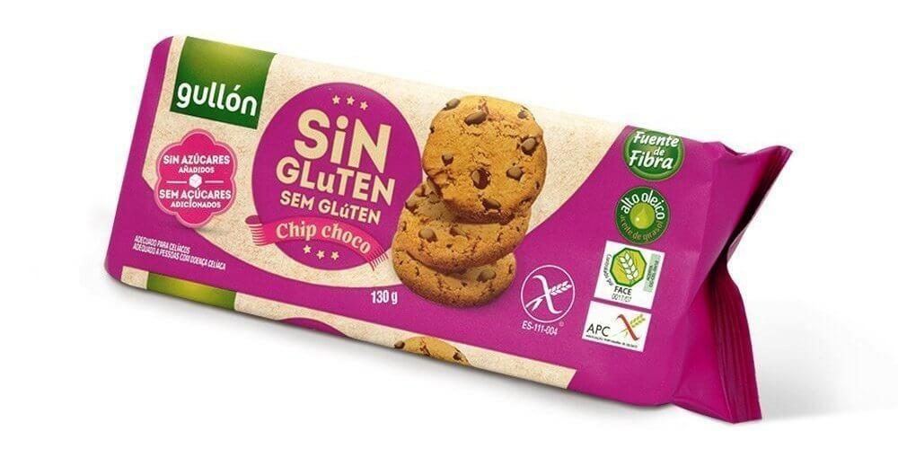 Cookies Sem Adição Açúcar Sem Glúten com Gotas de Chocolate Chip Choco Gullón 130g