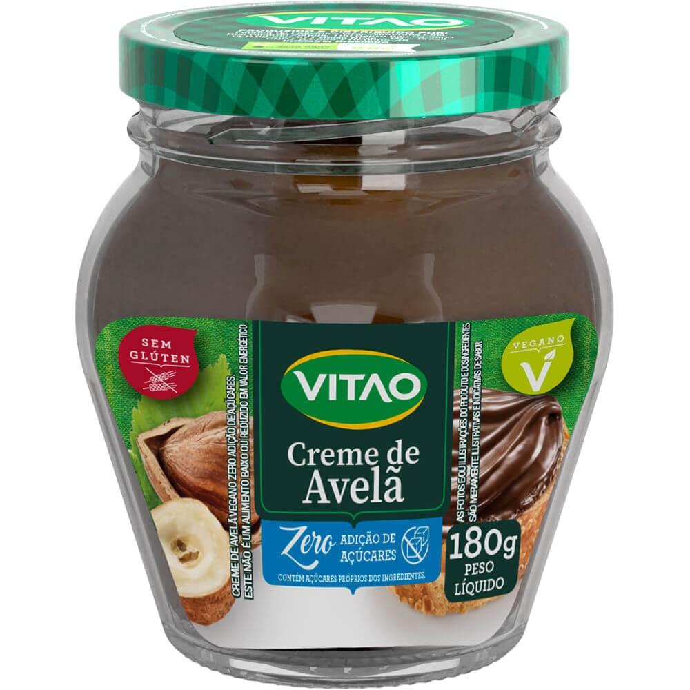 Creme de Avelã Zero Adição de Açúcar Vegano Vitao 180g