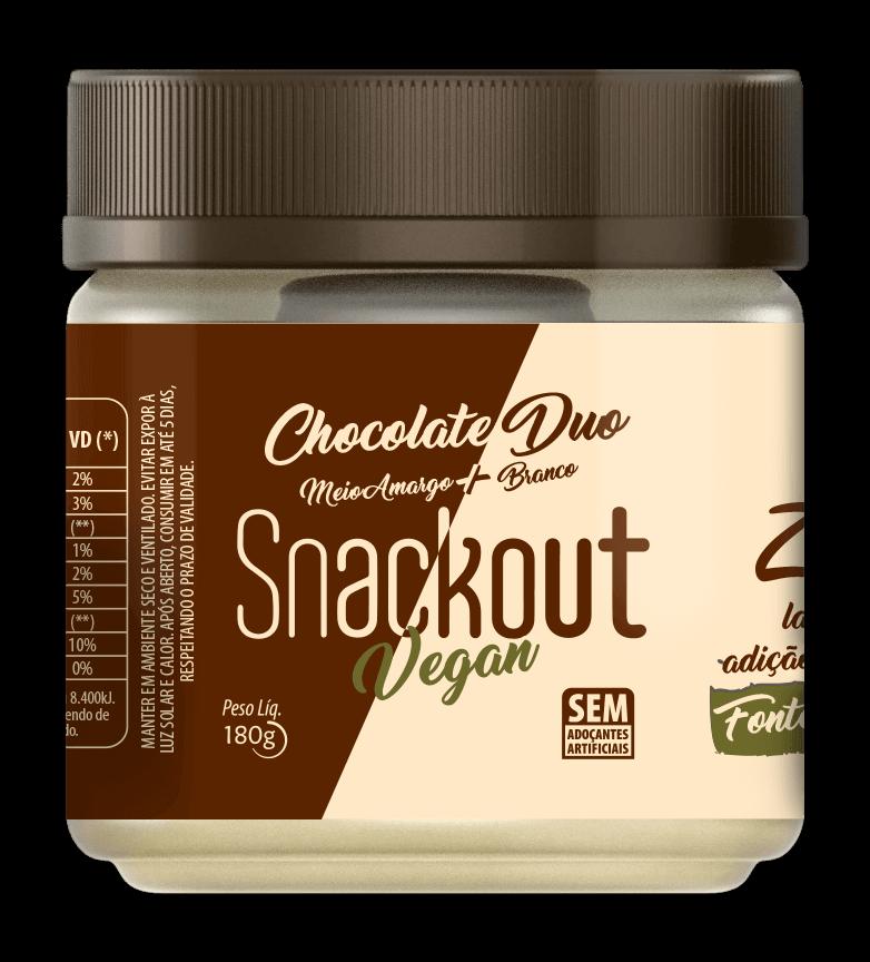 Doce de Chocolate Duo Zero Adição de Açúcar Vegano Snackout 180g