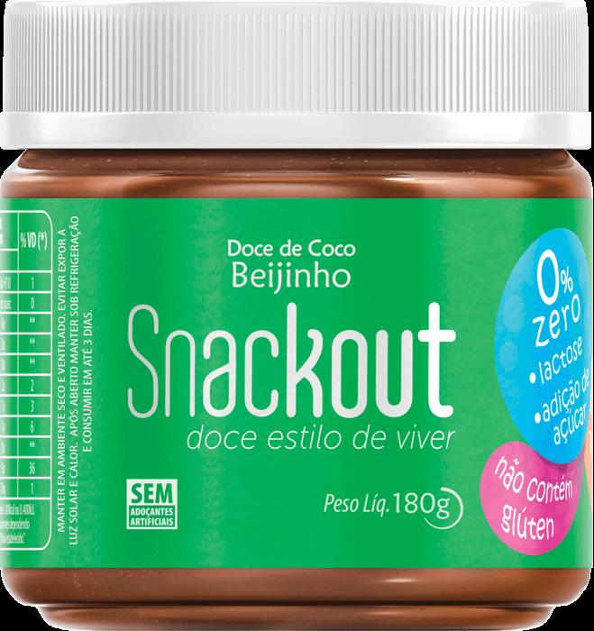 Doce de Coco Zero Adição de Açúcar Snackout 180g