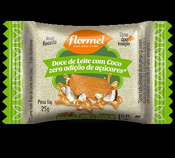 Doce de Leite com Coco Zero Adição de Açúcar Flormel 20g