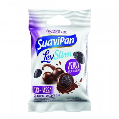 Drageado de Uva Passa Zero Adição de Açúcar Suavipan 40g - Validade: 30/03/2020