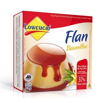 Flan Zero Adição de Açúcar Sabor Baunilha Lowçucar 25g