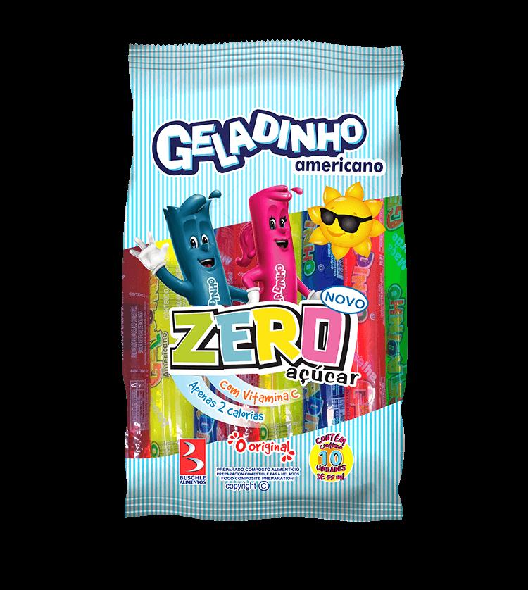 Geladinho Zero Açúcar Pacote com 10 Unidades 55mL