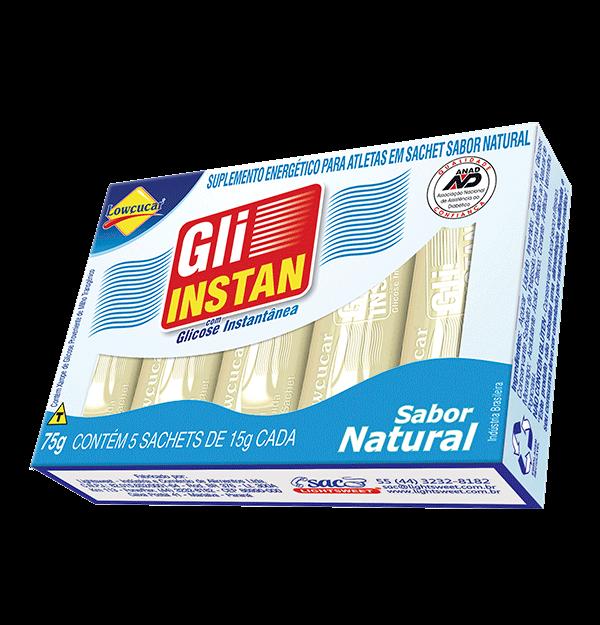 Glicose Instantânea - Gli Instan de Natural Caixa com 5 Sachês