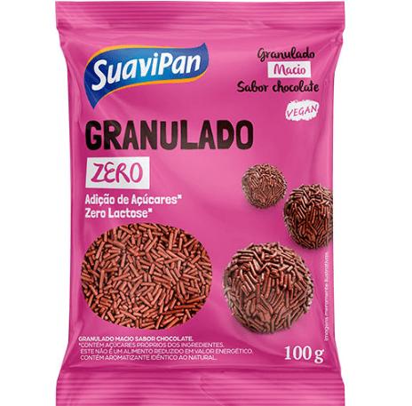 Granulado Zero Adição de Açúcar Chocolate Suavipan 100g