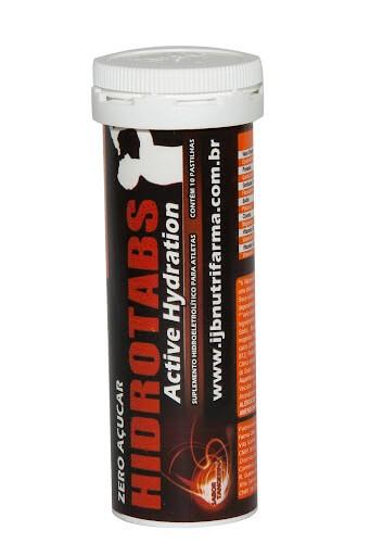 Hidrotabs Suplemento Hidroeletrolítico Zero Açúcar Sabor Tangerina 10 pastilhas