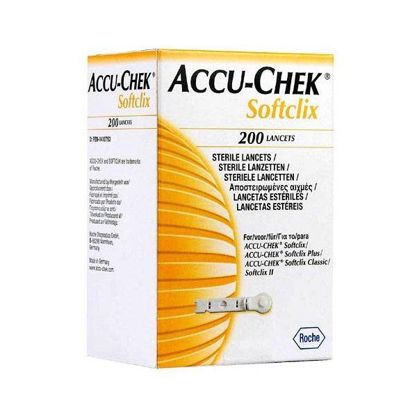 Lancetas Accu-Chek Softclix Caixa com 200 Unidades Roche
