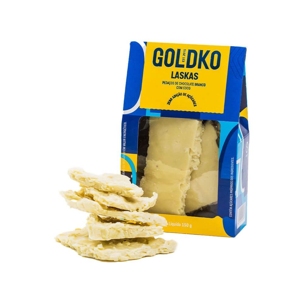 Chocolate Branco Zero Adição de Açúcar com Coco GoldKo 150g