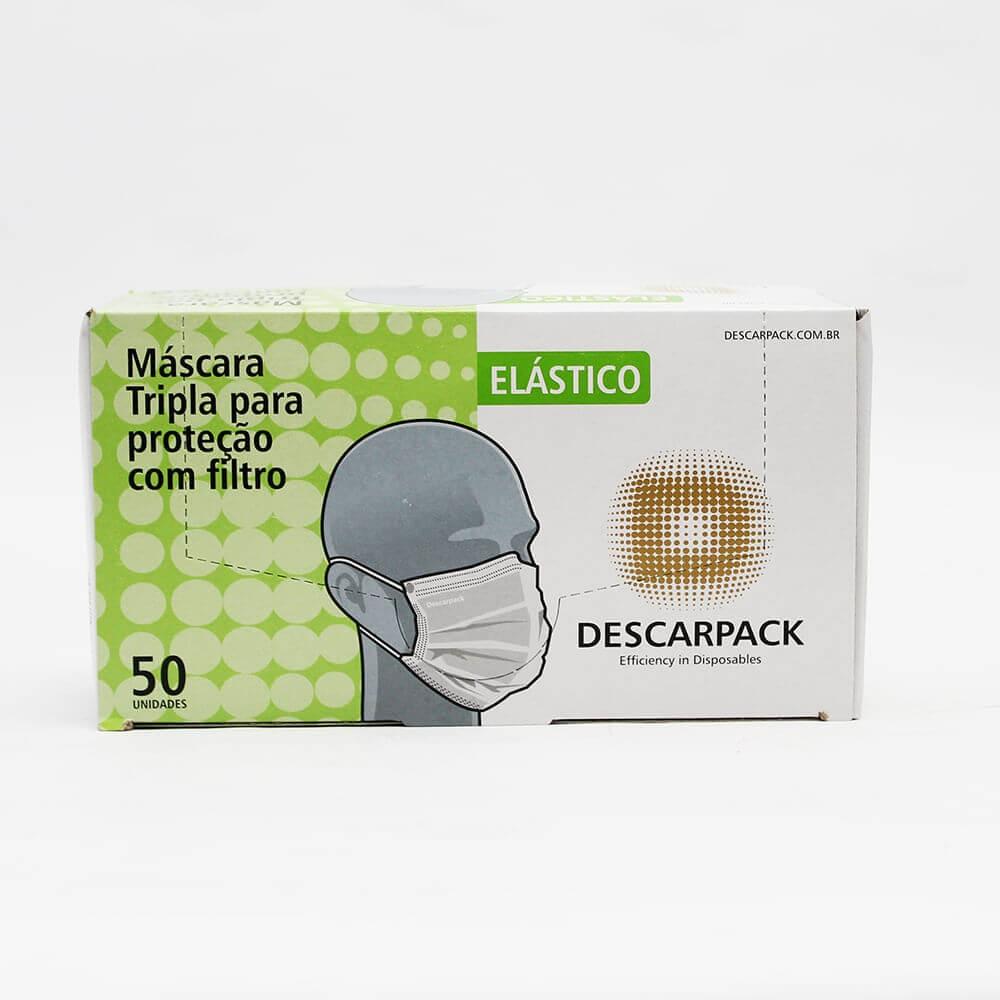 Máscara Tripla Proteção com Filtro Caixa com 50 Unidades