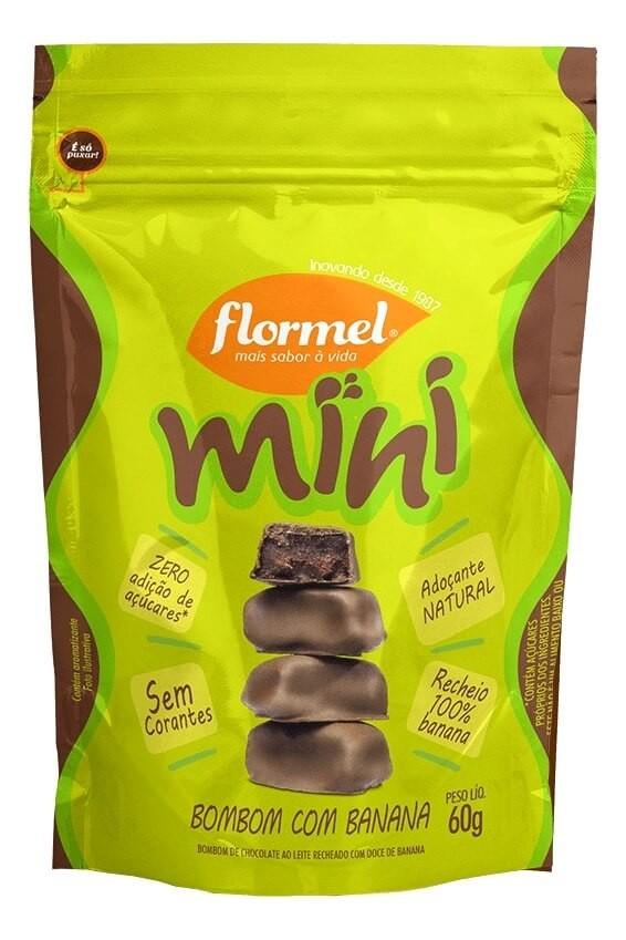 Mini Bombons Zero Adição de Açúcar Banana Flormel 60g