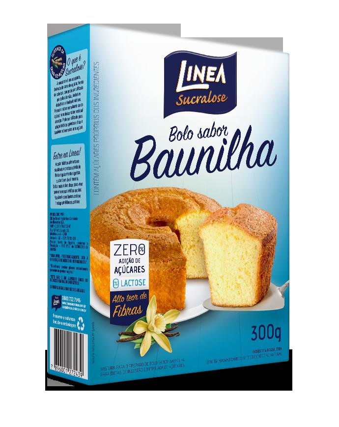 Mistura para Bolo Zero Adição de Açúcar Sabor Baunilha Linea 300g