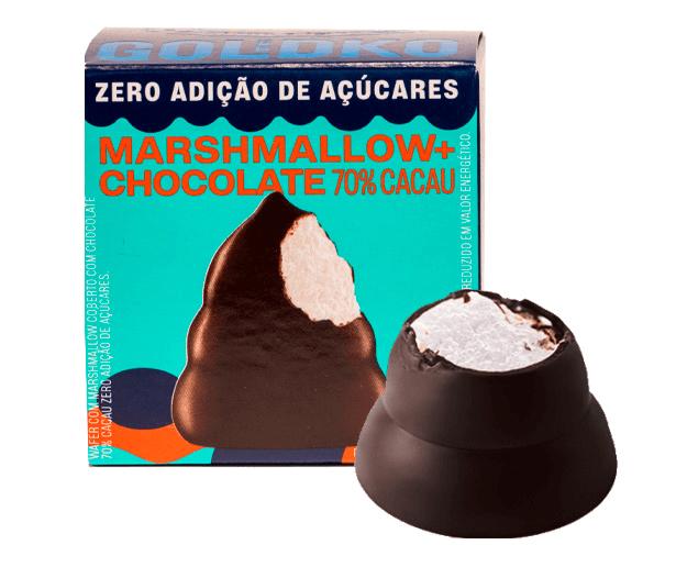Musa Zero Adição de Açúcar Marshmallow com Chocolate 70% Cacau GoldKo 30g