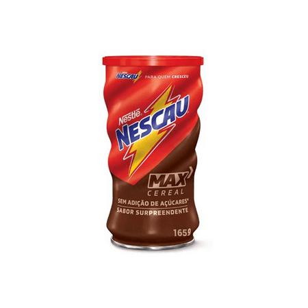 Achocolatado Sem Adição de Açúcar Nescau Max Cereal Nestlé 165g